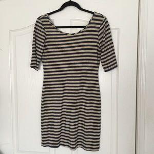 Velvet Torch Dresses & Skirts - Velvet Torch striped low back dress