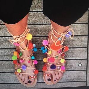 elina Linardaki Shoes - Elina Linardaki Penny Lane Lace Up Sandals