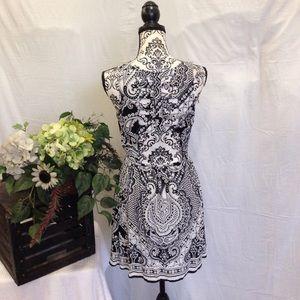 Angie Dresses & Skirts - Angie Paisley Indi Print Caged Back Dress