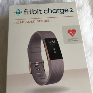 New Fitbit Charge 2 HR Tracker Rose Gold Series L