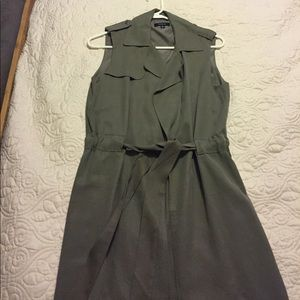 DREW Jackets & Blazers - Drew army green sleeveless trench vest