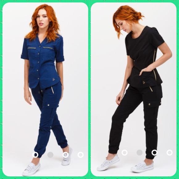 e91d23b6502 Jaanuu Pants - TWO pairs Jaanuu Jogger style scrub pants