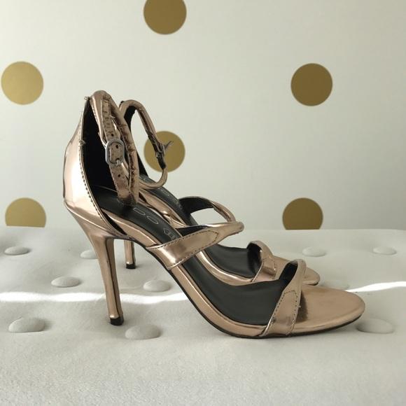 70 off aldo shoes   aldo metallic rose gold strappy