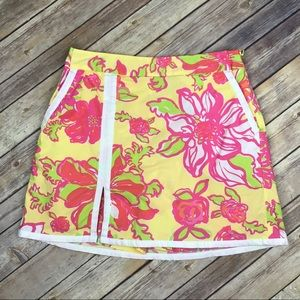 Lilly Pulitzer Dresses & Skirts - Lilly Pulitzer Floral Print Pink Tag Skort Skirt