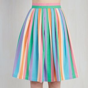 ModCloth Dresses & Skirts - ModCloth Aspiration Creation Rainbow Striped Skirt