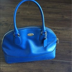 Coach Mini Cora Domed Satchel Blue