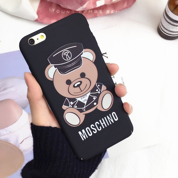 new style 92e37 80065 Moschino Bear 🐻 iPhone 7 plus hard phone case Boutique