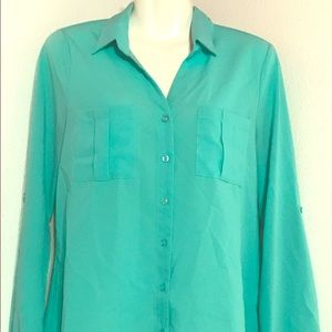 6fdc52ed952f4a Tops | Long Sleeve Mint Green Button Down Shirt | Poshmark