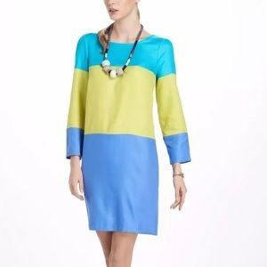 Anthropologie Maeve Colorblock Shift Dress