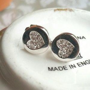 Eliot Danori Jewelry - ELIOT DANORI CRYSTAL HEART EARRINGS
