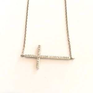 Yellora jewelry diamond sideways cross pendant necklace poshmark yellora jewelry yellora diamond sideways cross pendant necklace aloadofball Gallery