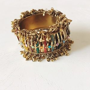 Vintage Jewelry - • moroccan • intricate beaded bangle bracelet