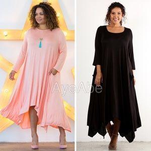 Dresses & Skirts - Plus size hi low oversized loose fit maxi dress