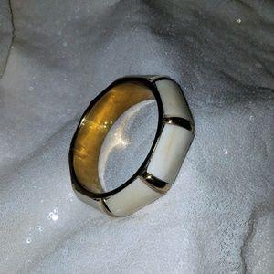 2 for $20 NWOT Ivory and gold bracelet