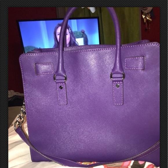 640467ef369e Michael Kors Bags | Purple Mk Hamilton Purse Large | Poshmark