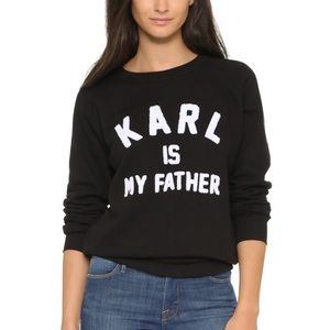 Eleven Paris Sweaters - ElevenParis Karl Is My Father Pullover Sweater