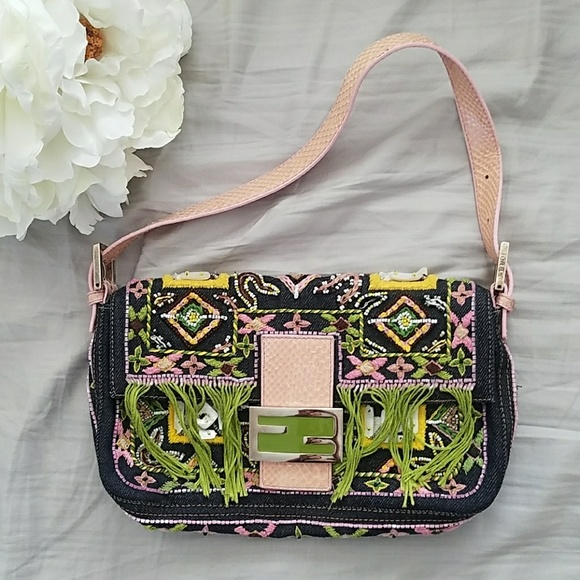 e0ae0d0c61c4 Fendi Handbags - Embroidered Fendi Baguette Bag
