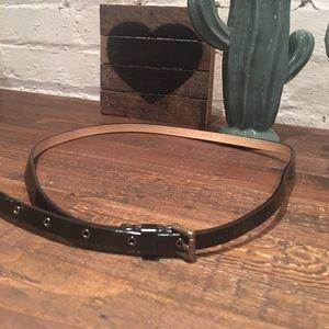 Black JCrew belt, size M, patent leather