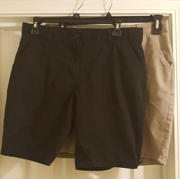 Bundle of 5 Pairs of Girls School Uniform Shorts