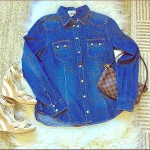 H&M Tops - H&M NWT denim western button down shirt
