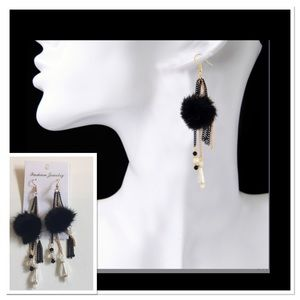 Pom Pom Dangle Earrings