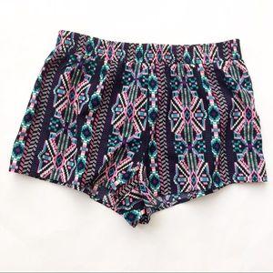 Forever 21 Pants - Forever 21 Pink black Aztec Shorts
