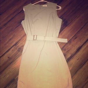 Calvin Klein shift dress with belt