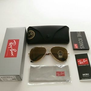 Ray-Ban Accessories - Authentic Brown Ray Ban aviator