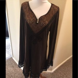 Scully Dresses & Skirts - Gorgeous soft Brown lace Scully dress XL