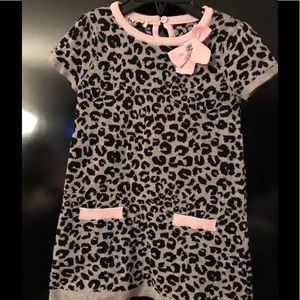 Byblos Other - Byblos Infant Wool/Cotton Leopard Print Dress