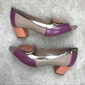 Rara Avis Shoes - Rara Avis Textured Mod Heels