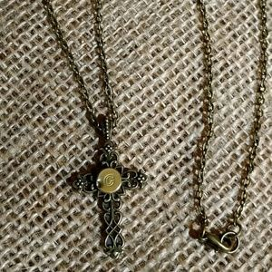Jewelry - 22-Caliber Bullet Cross Necklace