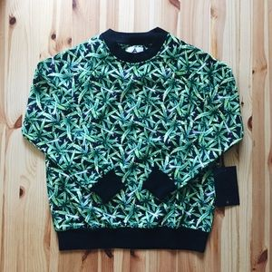 UNIF Sweaters - UNIF Weed Print Sweater