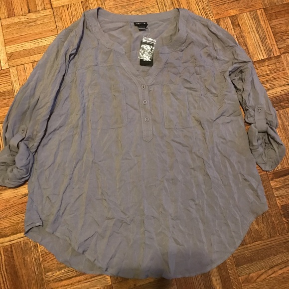 63bac1c3f7c22 Torrid Challis Pullover Rayon Shirt Plus Size 1X
