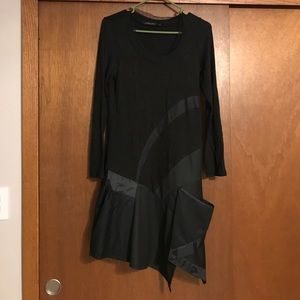 Lauren Vidal Dresses & Skirts - Lauren Vidal black/gray dress with layers