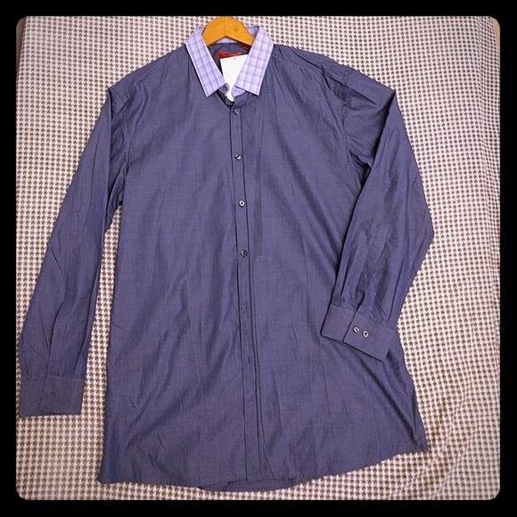 80 off hugo other hugo boss slim fit dress shirt blue for Hugo boss slim fit dress shirt