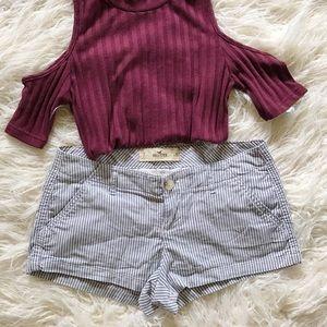 Hollister Pants - Nautical Stripe Shorts