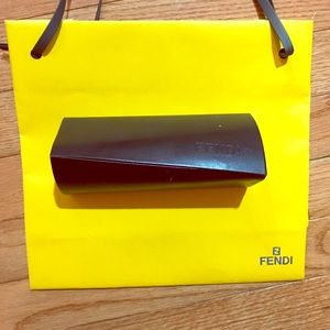 Fendi sunglasses case, cleaning cloth,shopping bag