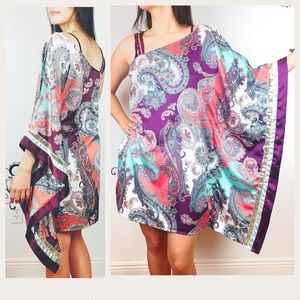 Baby Phat Dresses & Skirts - BABY PHAT unique satiny kimono sleeve dress