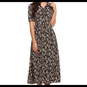 Dresses & Skirts - Women's Vintage Style Floral Maxi Dress