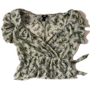 H&M | Slight Crop Top Blouse | Size 2