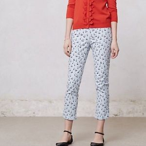 {anthropologie} cherry charlie trousers