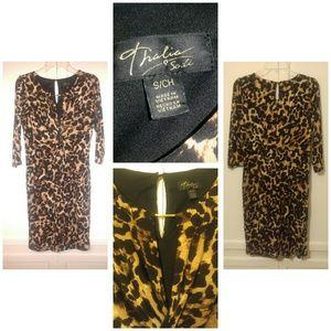 Thalia sodi Dresses & Skirts - Animal print cocktail dress