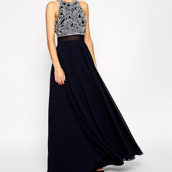ASOS Dresses & Skirts - ASOS occasion dress with embellished crop top