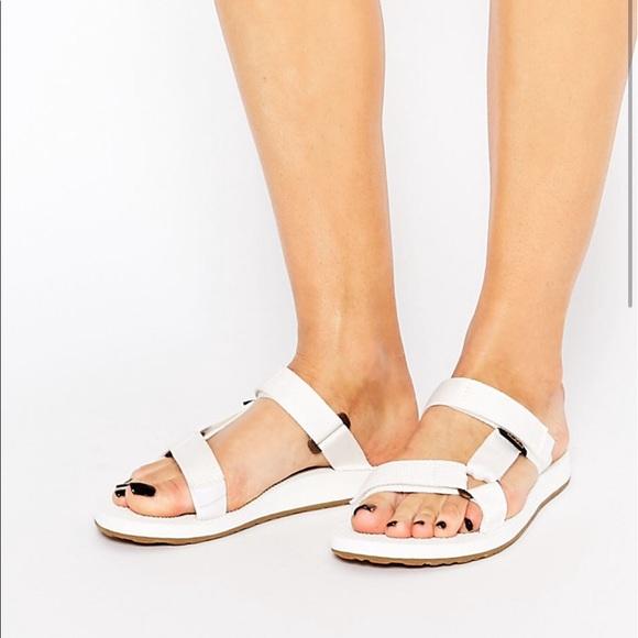 73d2188e2047 Teva Original Slide Bright White Sandals ☀ 🍦