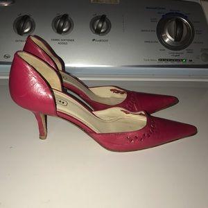 Coach Shoes - Pink Coach Heels