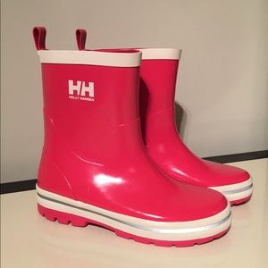 Helly Hansen 4 girls Midsund pink short rain boot