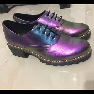 Miista Shoes - Miista Spain Iridescent Oxfords