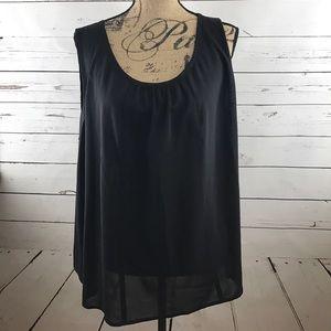 Sejour Tops - Nordstrom Sejour Black Sleeveless Blouse Size 18W