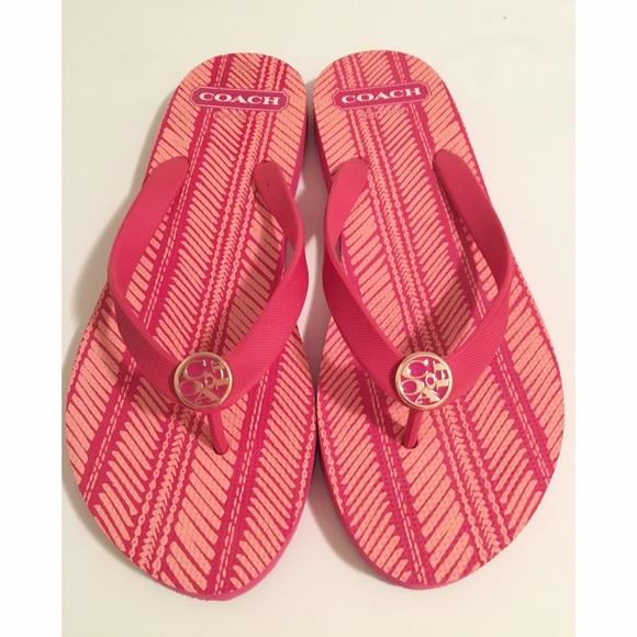 0f07944aa9ce7 Coach Shoes - Coach Flip Flops - size 9-10